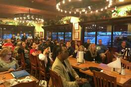 Pearland ISD trustee Mike Floyd's first town hall meeting, held at Spring Creek Barbeque on Broadway, drew about 40 residents voicing opinions or concerns.