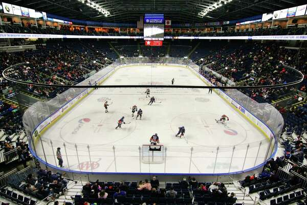 Webster Bank Arena in Bridgeport will host this weekend's NCAA men's hockey tournament East Regional.