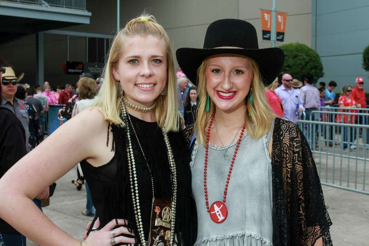 Fans attending the Garth Brooks rodeo show at NRG Stadium.