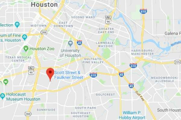 Shots were fired at Houston police officers Sunday afternoon near the intersection of Scott and Faulkner.