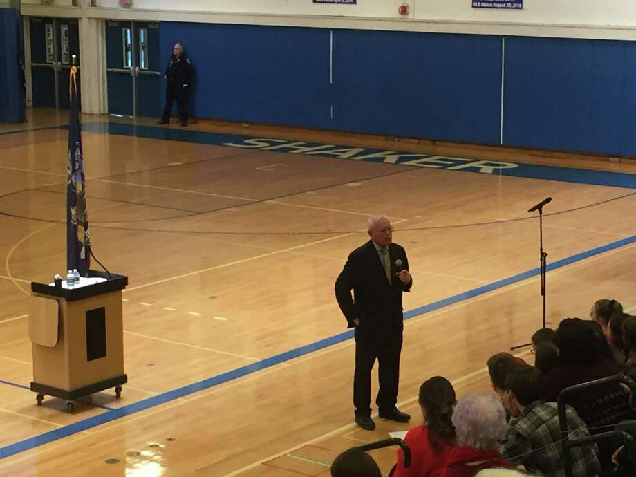 Rep. Paul Tonko held a two-hour townhall to discuss gun violence and school safety on Sunday at Shaker High School in Latham. Photo: Steve Hughes