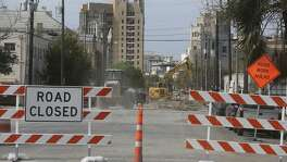 Street closures, such as this one on downtown San Antonio's north end at Brooklyn and Avenue E, are causing traffic detours and parking problems. Some businesses are also be affected by construction in the area.