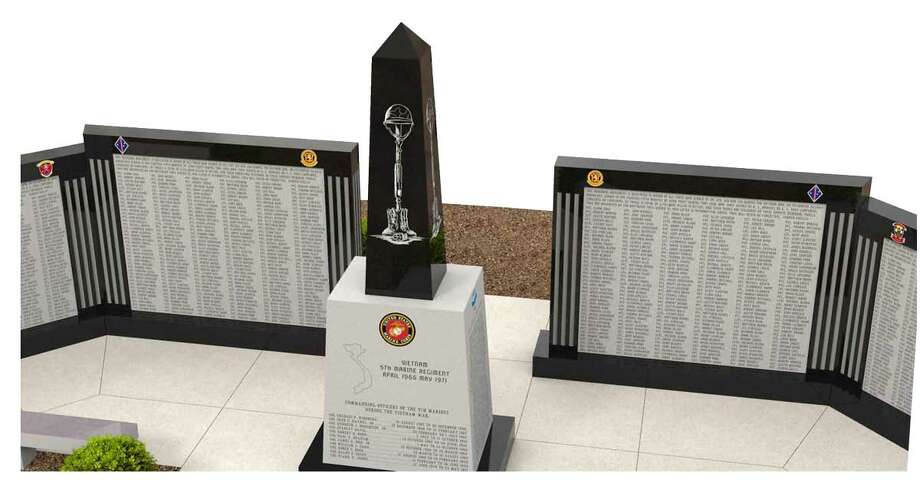 Rendering shows what the completed 5th Marine Vietnam Memorial will look like at Camp Pendleton, Calif. (Rock of Ages)
