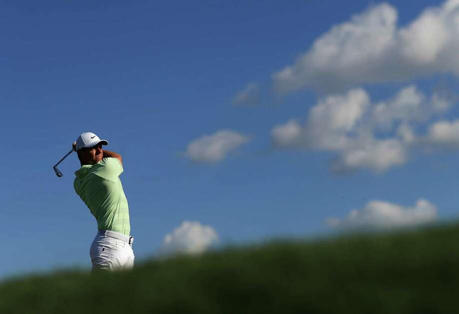 ORLANDO, FL - MARCH 18:  Rory McIlroy of Northern Ireland plays his shot from the 14th tee  during the final round at the Arnold Palmer Invitational Presented By MasterCard at Bay Hill Club and Lodge on March 18, 2018 in Orlando, Florida.  (Photo by Mike Ehrmann/Getty Images) Photo: Mike Ehrmann / 2018 Getty Images