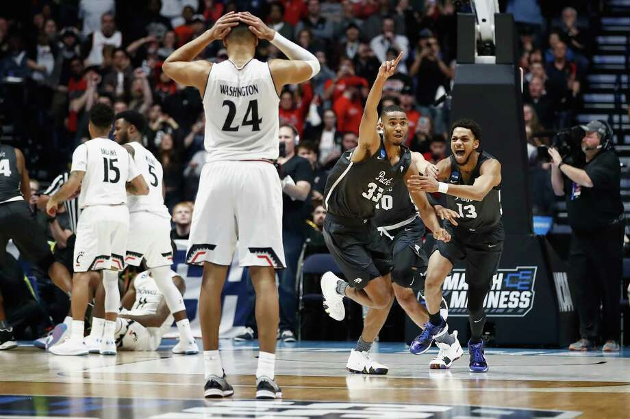 No. 7 Nevada overcame a 22-point deficit in the final 11 minutes to stun No. 2 Cincinnati and advance to the Sweet 16. The victory marks the second-largest, come-from-behind win in NCAA history, behind BYU's 25-point return against Iona in 2012. Photo: Andy Lyons, Staff / 2018 Getty Images