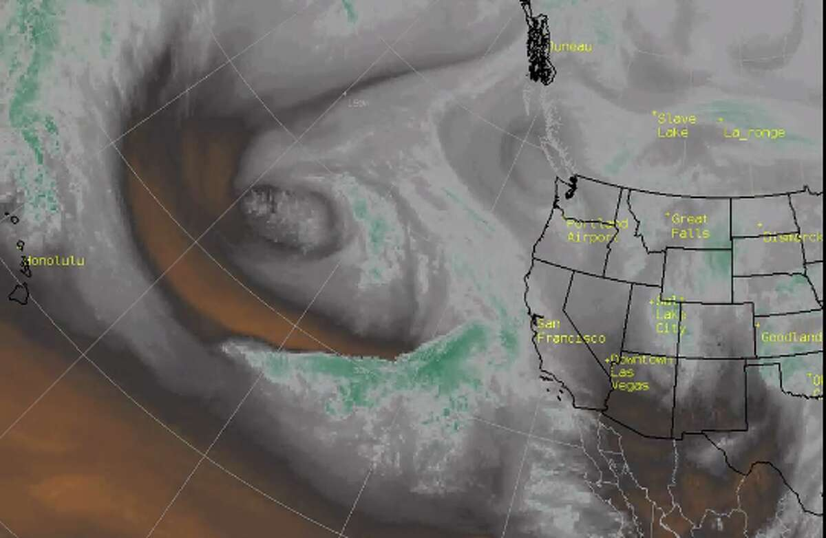 An atmospheric river pulling moisture from the Hawaii area is taking aim at California.