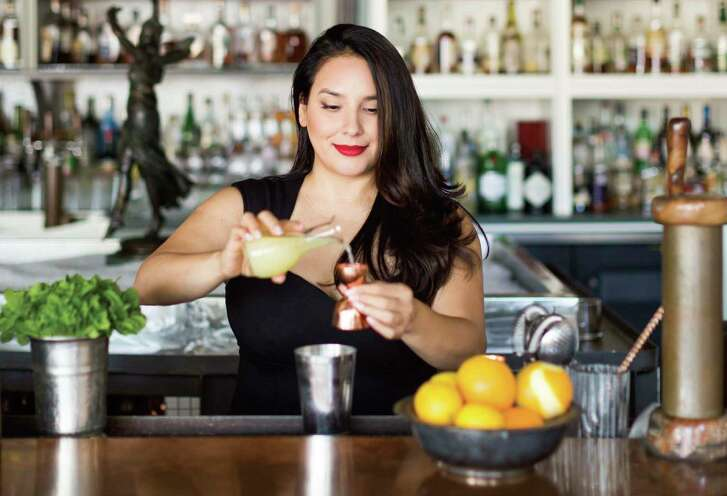 """Alba Huerta, owner/operator of Julep bar in Houston, has written a cocktail-recipe book, """"Julep: Southern Cocktails Refashioned."""""""
