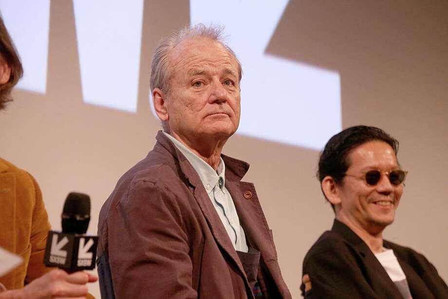 "Bill Murray, left, and Kunichi Nomura attend the premiere of ""Isle of Dogs"" at the Paramount Theatre during South By Southwest on March 17, 2018, in Austin, Texas.