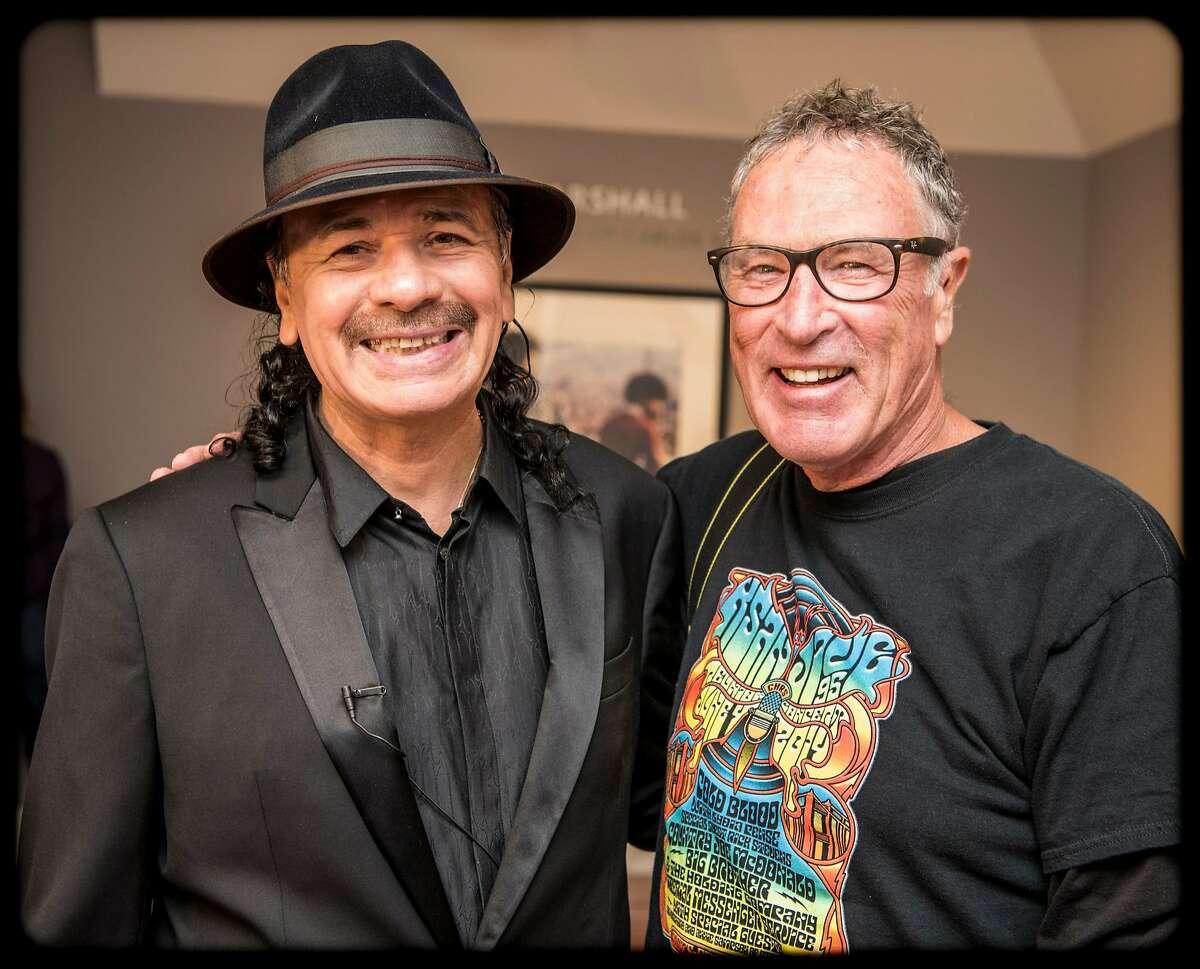Carlos Santana and Kenny Wardell of BAM magazine