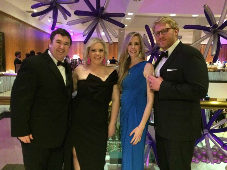 Mardi Gras:  Stephen and Jessica Stoltz, Lauren Neatherlin and Grant Alford Photo: Courtesy Photo