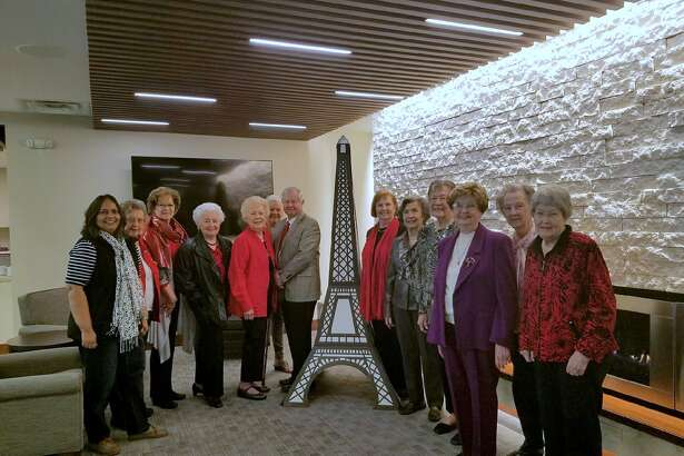 In this photo, Midland Musician Club members gather for a performance of French music. Jo Ann Collett, second from left, is the president of District Nine clubs, which will host the statewide convention this week.