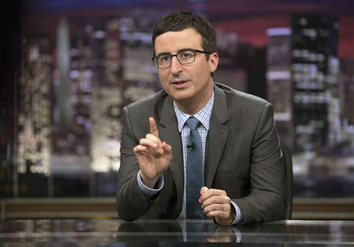 Last Week Tonight with John Olivertore into Texas in the shows return to a small studio audience Sunday night.