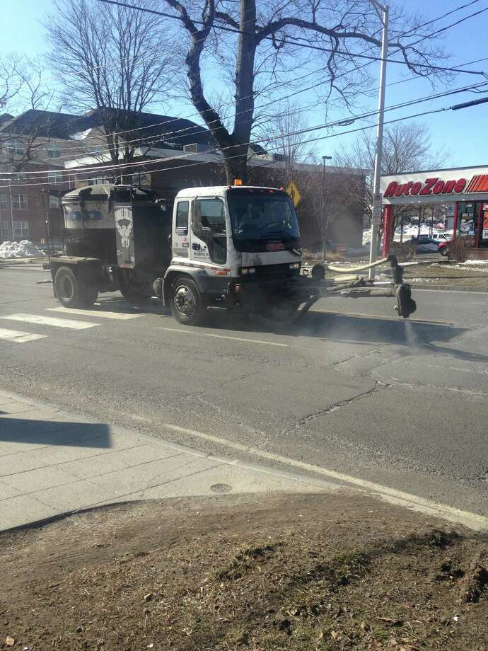The City of Danbury has hired Patch Management Inc. to help fill potholes across town. Photo: / Submitted Photo