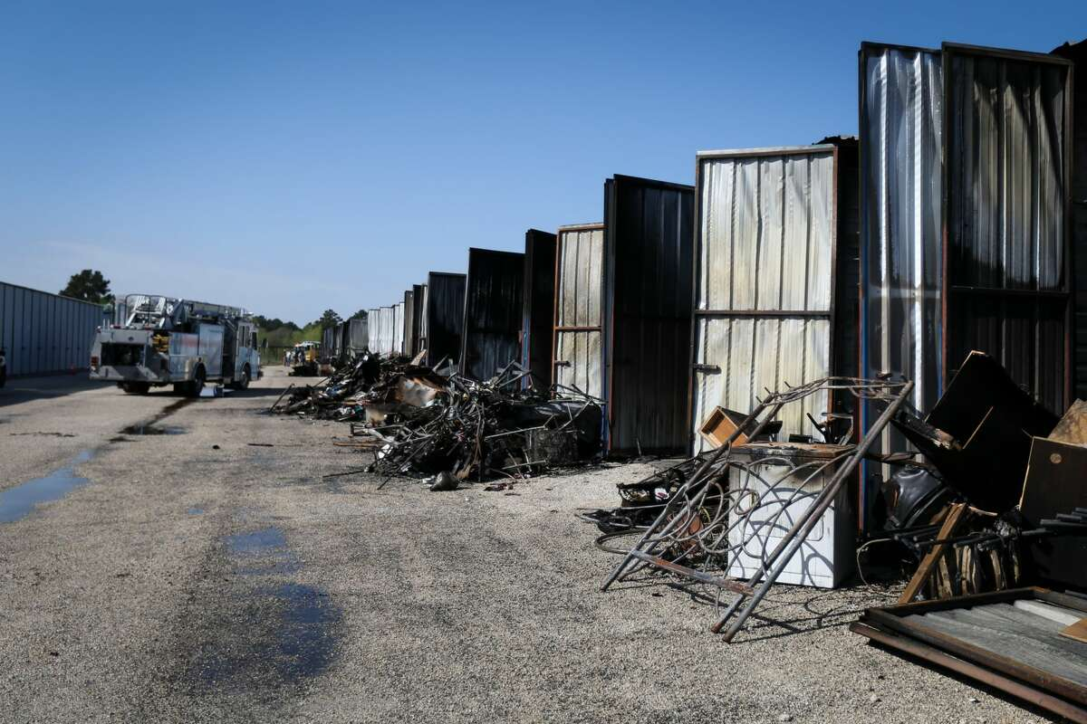 A fire destroyed 72 storage units on Monday, March 19, 2018, at Piney Woods Boat and RV Storage in Willis.