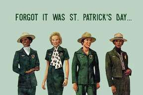 The National Park Service shared the progression of women's park ranger uniforms through the years.