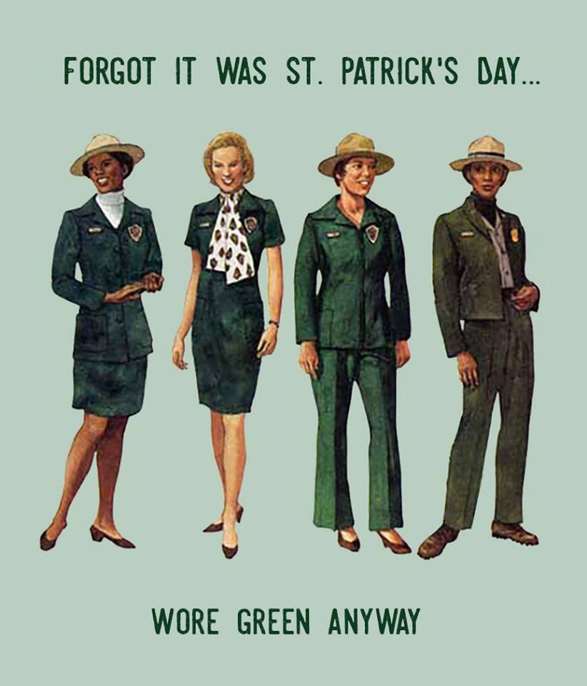 National Park Service shares throwback photo of vintage uniforms women wore