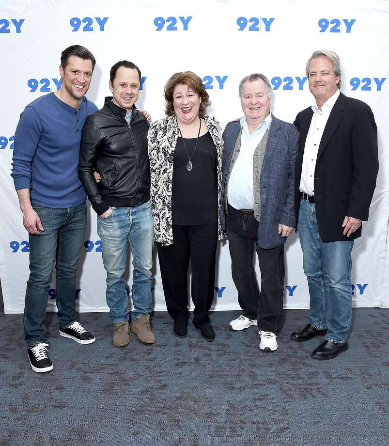 "(L-R) Actors Shane McRae, Giovanni Ribisi, Margo Martindale and Peter Gerety, and executive producer Graham Yost pose before taking part in 92nd Street Y Presents: ""Marvelous Mrs. Maisel"" & ""Sneaky Pete"" at 92nd Street Y on March 1, 2018 in New York City. The show, which returned for a second season March 9, is set largely in Bridgeport, but not shot there. Photo: Michael Loccisano / Getty Images / 2018 Getty Images"