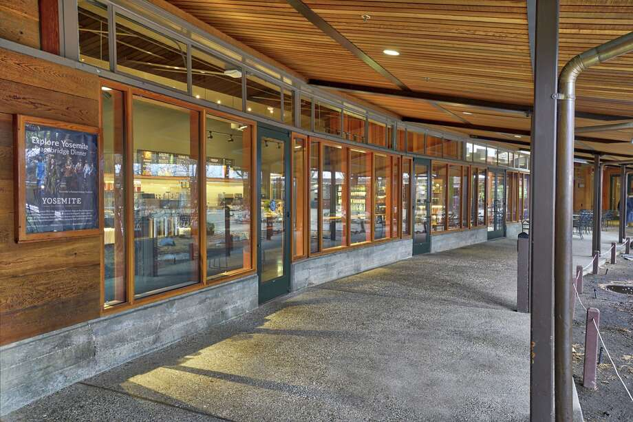 The exterior of the new Starbucks in Yosemite National Park has no Starbucks sign. Photo: Starbucks