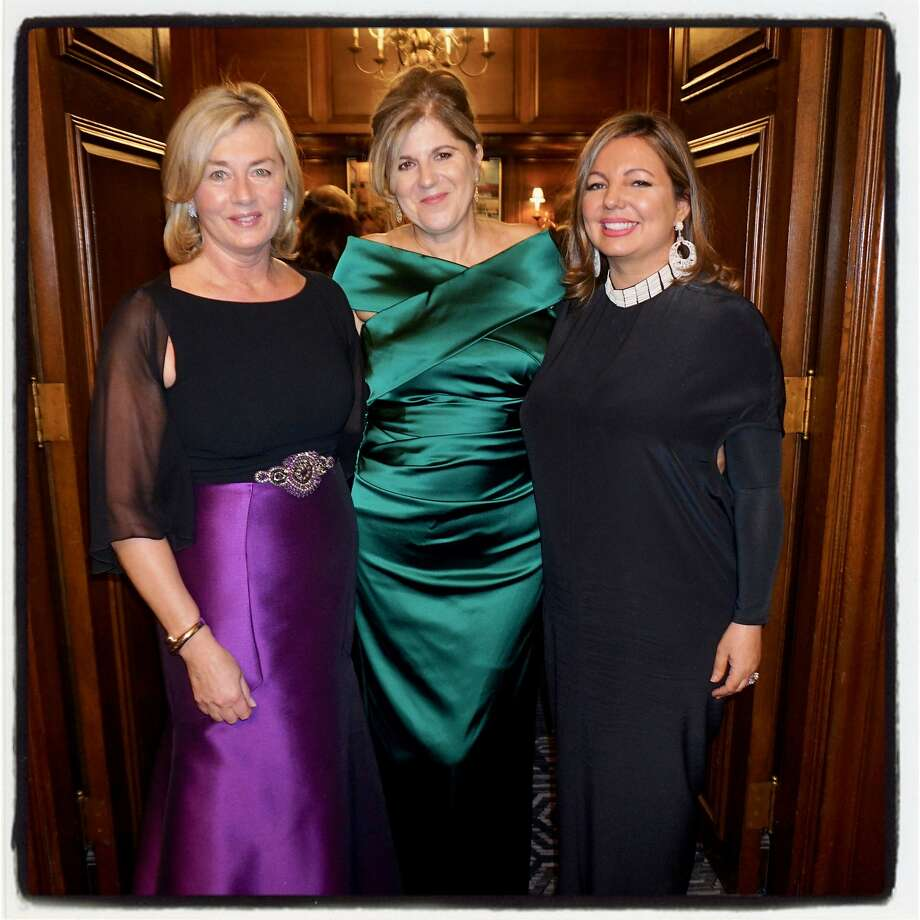 Ireland Funds' VP Marjorie Muldowney (left), honoree Lorraine Twohill and honorary gala chair Olivia Gaynor-Long March 9, 2018. Photo: Catherine Bigelow, Special To The Chronicle
