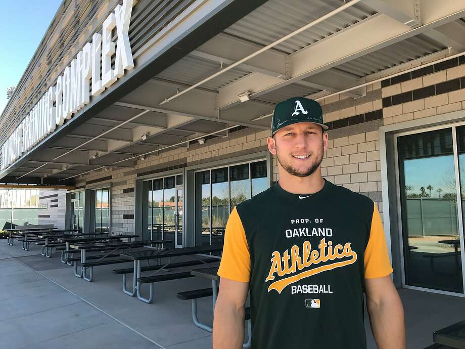A's minor-leaguer James Kaprielian is coming back from Tommy John surgery and hopes to pitch in the big leagues in the fall. Photo: Susan Slusser/The Chronicle