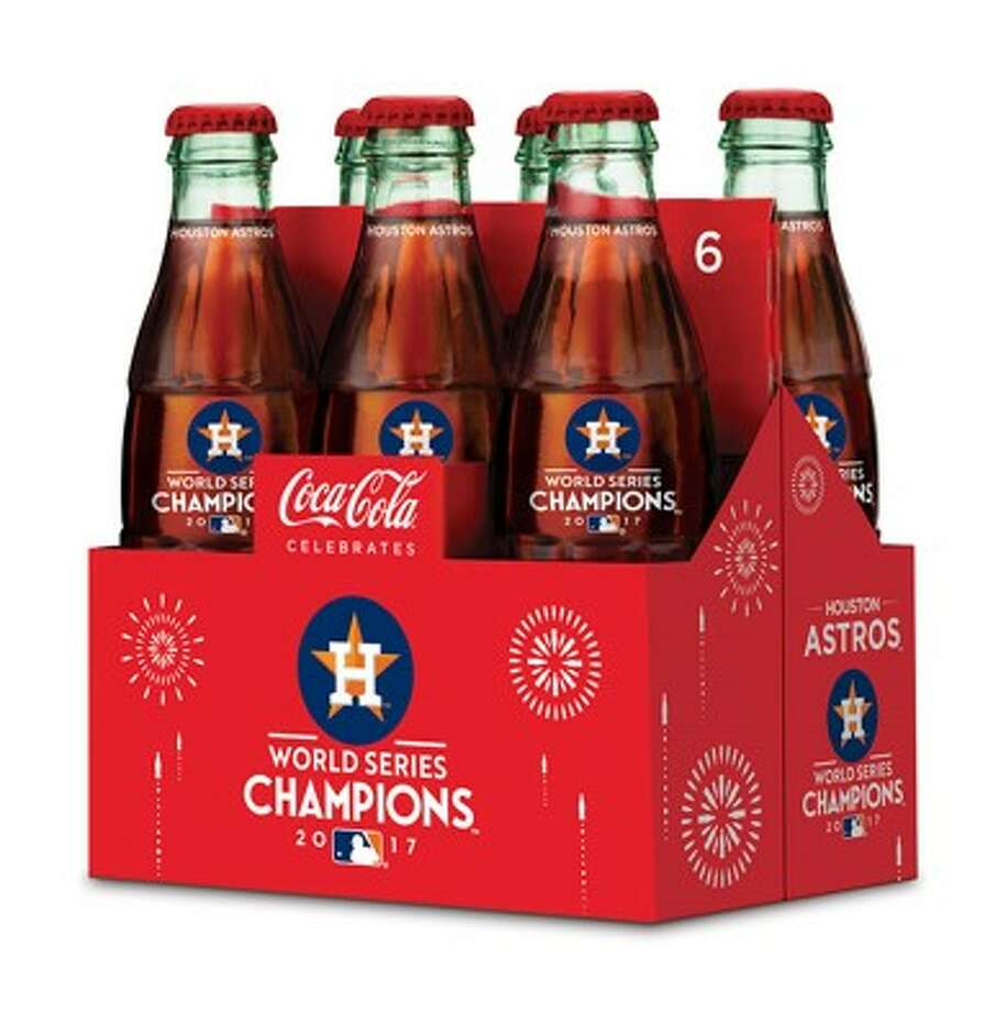 Coca-Cola Southwest Beverages said Monday it has produced an eight-ounce Coca-Cola bottle bearing the Astros logo and 2017 World Series logo. The bottles are available at local Kroger stores beginning Monday.Click through the gallery to see other World Series-inspired gift ideas for Astros fans. Photo: Courtesy Coca-Cola