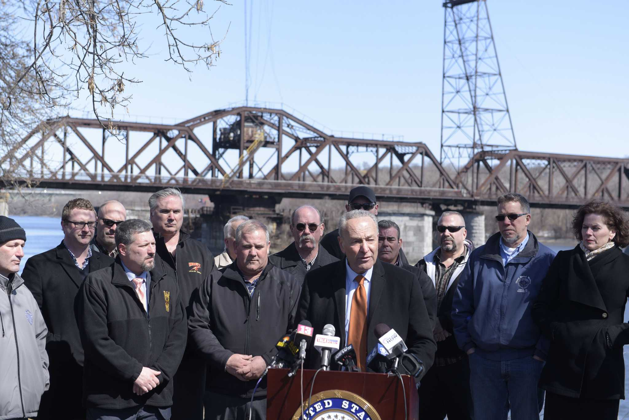 Schumer, unions pitch infrastructure plan, reversal of some Trump tax cuts