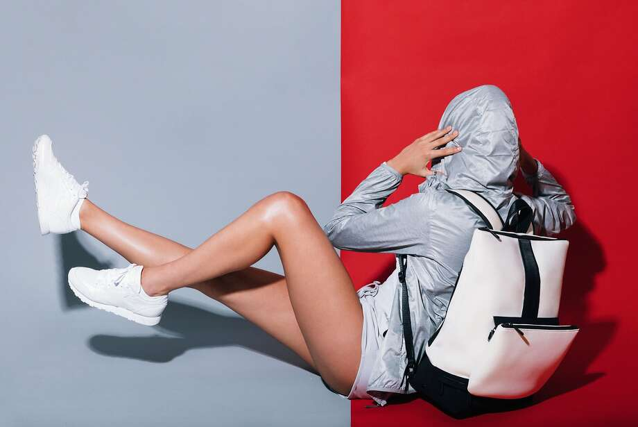 New York handbag line Caraa has partnered with Athleta for this sporty capsule collection of multi-functional bags, including a convertible backpack made of neoprene. Photo: Caraa