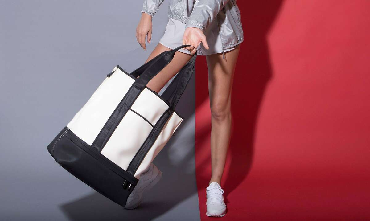 New York handbag line Caraa has partnered with Athleta for this sporty capsule collection of multi-functional bags.