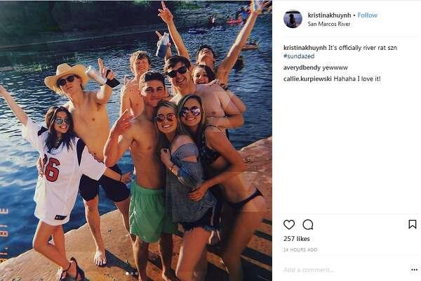 """@kristinakhuynh : """"It's officially river rat szn #sundazed"""""""