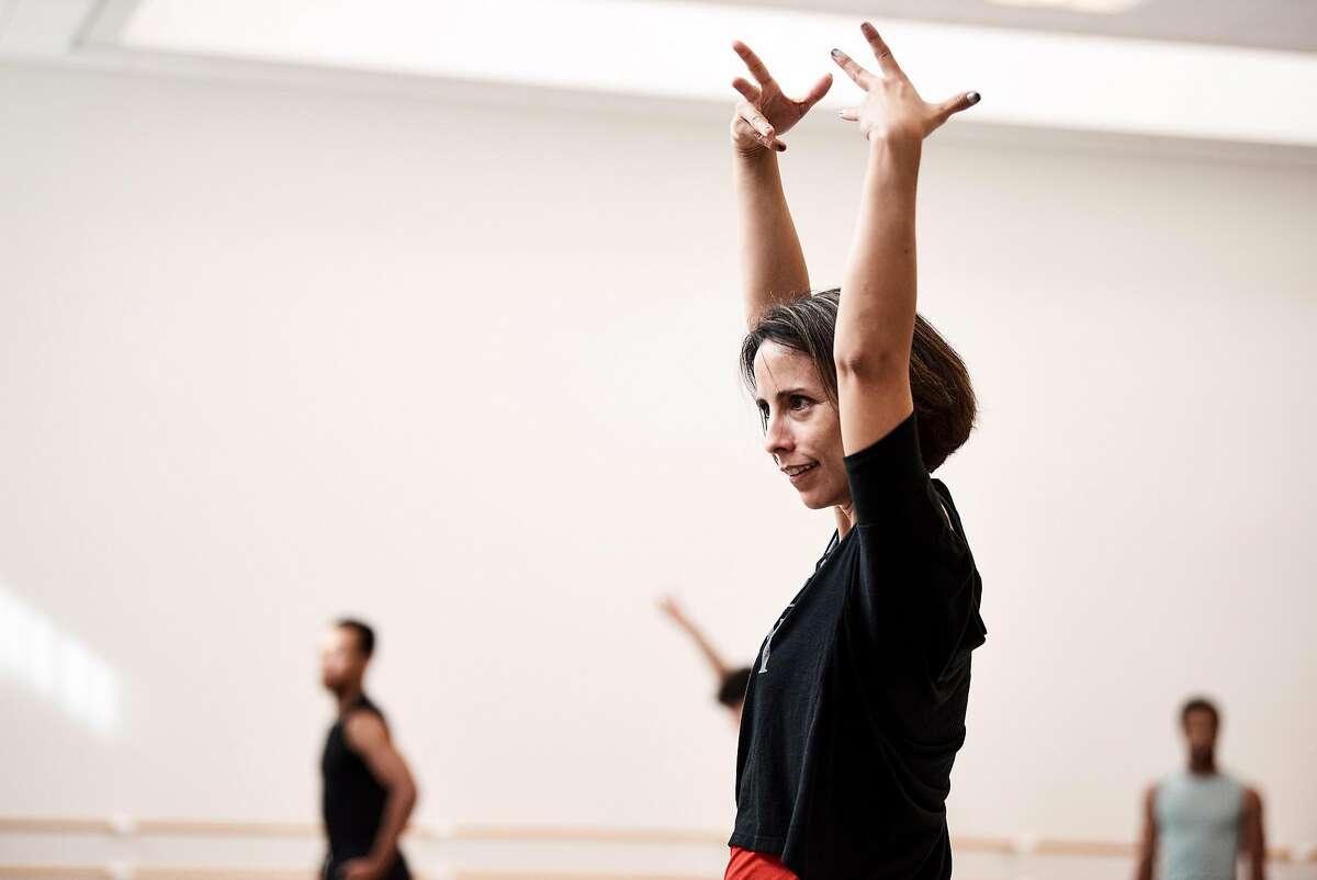 "Annabelle Lopez Ochoa rehearsing her ""Guernica."""