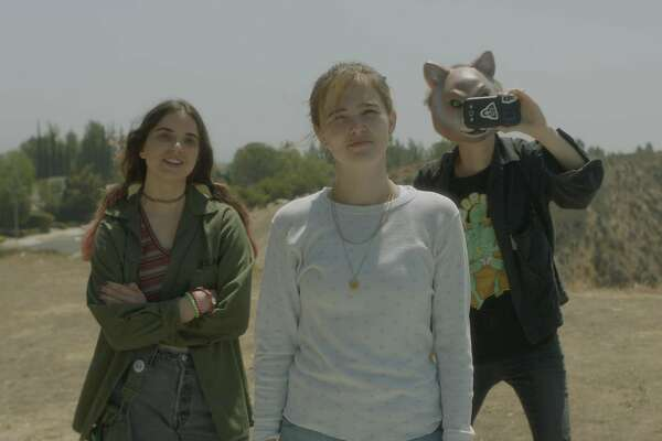 "Maya Eshet, Zoey Deutch and Dylan Gelula in ""Flower."" (The Orchard)"