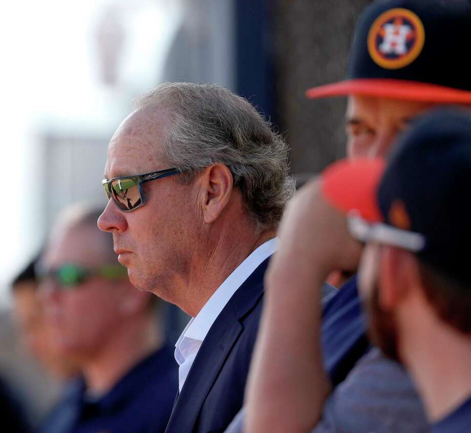 Houston Astros owner Jim Crane watches drills as full squad workouts began during spring training day at The Ballpark of the Palm Beaches, Monday, Feb. 19, 2018, in West Palm Beach    ( Karen Warren / Houston Chronicle ) Photo: Karen Warren, Staff / © 2018 Houston Chronicle