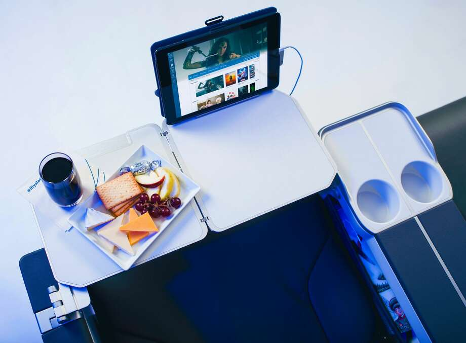 Bulkhead seat: Alaska Airlines will upgrade First Class with Recaro leather seats with footrests, 40-inch pitch, tablet holders and easy-to-reach cup holders and power outlets. Photo: Alaska Airlines