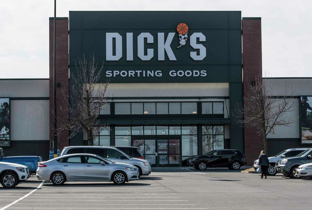 Exterior view of the Dick's Sporting Goods store in Latham Farms Mall on Wednesday Feb. 28, 2018, Latham, N.Y. The company that owns Latham Farms is proposing adding the 9,000-square-foot building next to Dick?s on the site of a former Walmart garden center. (Skip Dickstein/Times Union archive)