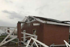An overnight storm wreaked havoc on some Texas prisons in the Huntsville area.