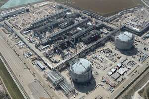 Construction continues at the Cheniere Liquid Natural Gas plant in Portland, Texas, Tuesday, Aug. 8, 2017. Stage one of the project broke ground on June 2015 and is scheduled to be in service in late 2018. The complete project will have a cost of over $20 billion.