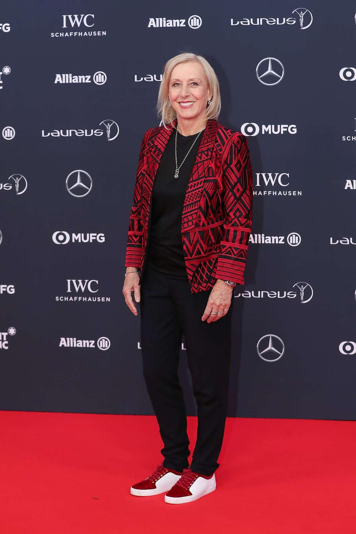 MONACO - FEBRUARY 27: Laureus Academy member Martina Navratilova attends the 2018 Laureus World Sports Awards at Salle des Etoiles, Sporting Monte-Carlo on February 27, 2018 in Monaco, Monaco. (Photo by Boris Streubel/Getty Images for Laureus)