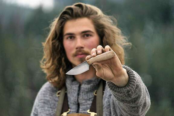 Everett Noel is a 19-year-old knifemaker who roves around California working on a mobile workshop