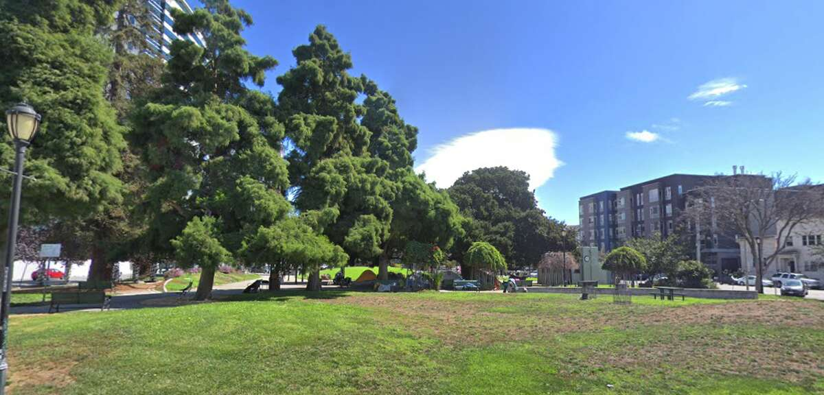 Lafayette Square, the former site of the Oakland Observatory.