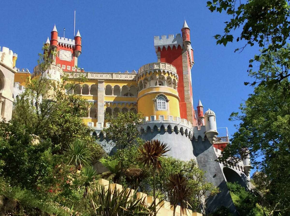 Sintra's Pena Palace, an enchanting architectural mish-mash, delights all that visit.