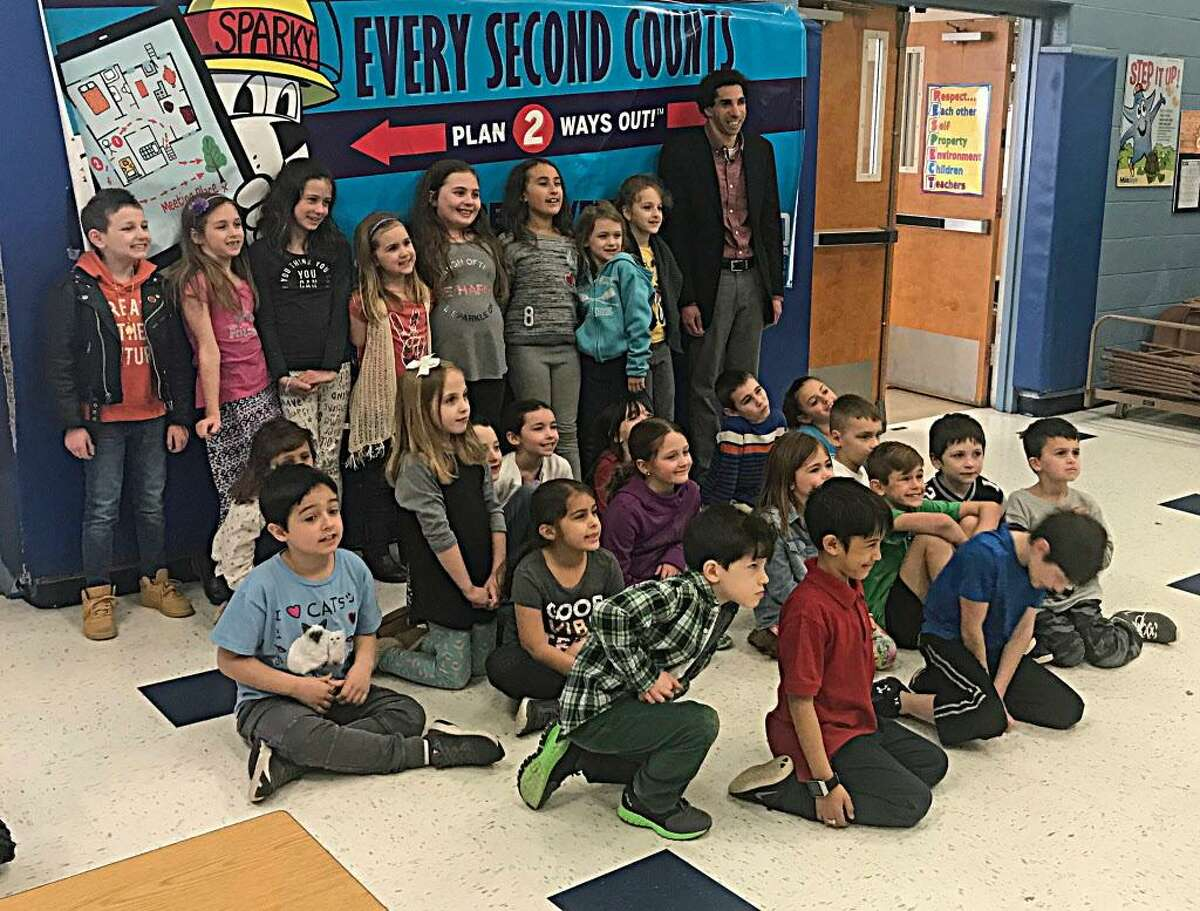 Gildersleeve Elementary School in Portland invited Changing Perspectives' Executive Director Sam Drazin to talk to children about people with disabilities Monday.