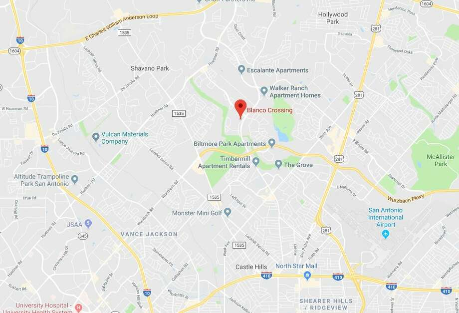 A student of Eisenhower Middle School said he was nearly abducted while heading to school Monday morning near the Blanco Crossing Apartments. Photo: Google Maps
