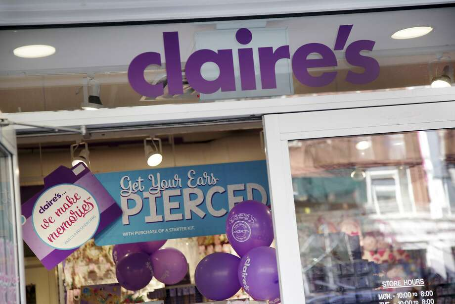 A Claire's store is seen in New York, Saturday, March 17, 2018. The mall chain that has pierced the ears of millions of teens has filed for Chapter 11 bankruptcy protection. The accessories chain said Monday, March 19, 2018, that its stores will remain open as it restructures its debt. (AP Photo/Seth Wenig) Photo: Seth Wenig, Associated Press