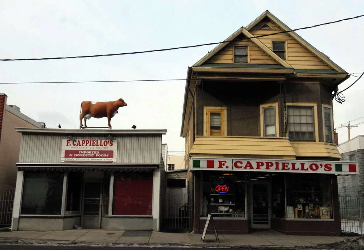 F.Cappiello's on Broadway in Schenectady. The family owns the storefront location, while BelGioioso Cheese owns the cheese factory behind it on Van Guysling Avenue where about 50 people work.