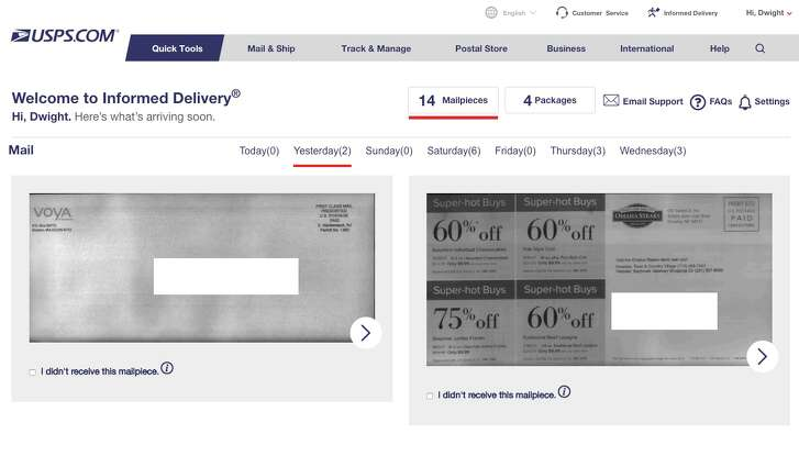 The US Postal Service will take photos of your snail mail and email it to you. Yes, even the junk mail.
