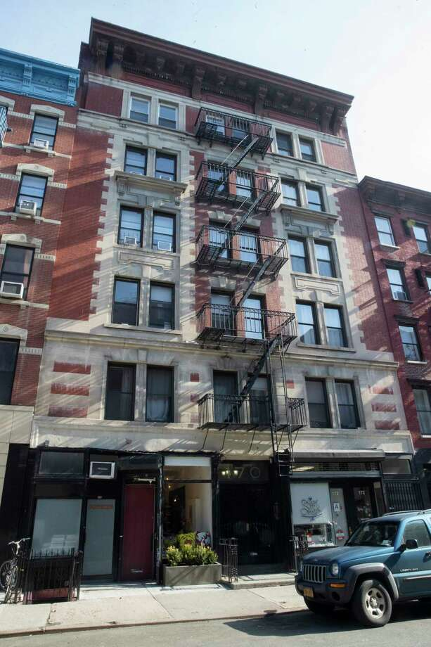 This Thursday, March 15, 2018 photo shows 170 East 2nd Street in the East Village neighborhood of Manhattan. Jared Kushner's family real estate company routinely filed false documents with New York City claiming it had no rent-regulated tenants in its buildings, including this one. (AP Photo/Mary Altaffer) Photo: Mary Altaffer / Copyright 2018 The Associated Press. All rights reserved.