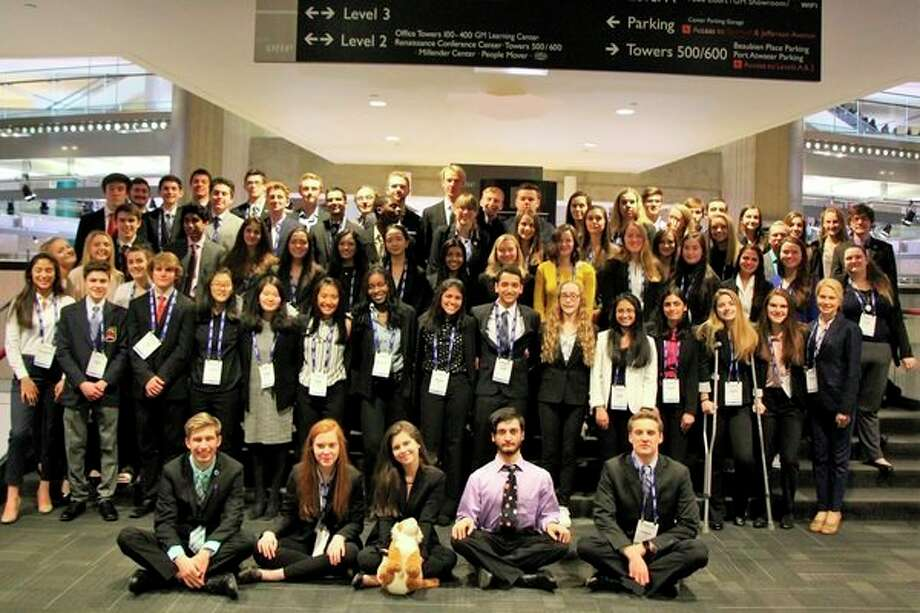 Seventy-one H.H. Dow High School students recently competed in the annual DECA State Career Development Conference in Detroit. (Photo provided)