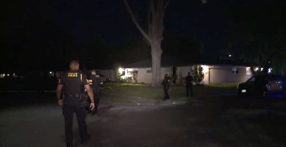 Police believe that a son killed his father during an argument on Sylmar in Southwest Houston Tuesday morning, March 20, 2018. Photo: Metro Video