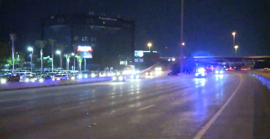 A motorcyclist was thrown off his bike and was killed Monday, March 19, 2018 on the North Freeway. Photo: Metro Video