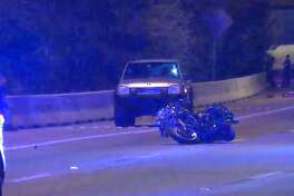 A motorcyclist was thrown off his bike and was killed Monday, March 19, 2018 on the North Freeway.